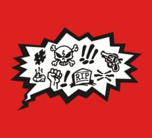 COMIC CURSES! Skull, Speech Bubble, Comic Book Explosion, Cartoon by boom-art