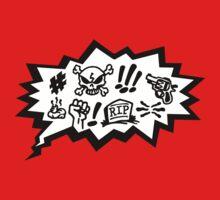 COMIC CURSES! Skull, Speech Bubble, Comic Book Explosion, Cartoon Kids Clothes