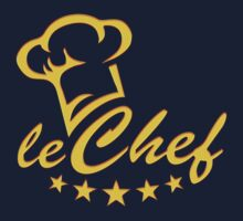 LE CHEF, Cook Hat - Five Stars, Cooking, Kitchen by boom-art