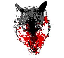 Angry Blood Wolf Photographic Print