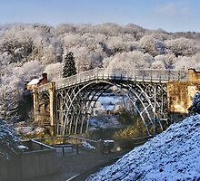 Spring Snow on The Ironbridge by jalfc46