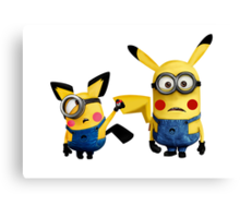 Pichu and Pika minion Canvas Print