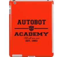 Autobot Academy (Black) iPad Case/Skin