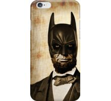 Batman + Abe Lincoln Mash Up iPhone Case/Skin