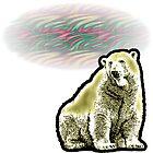 Polar Bear Midnight Sun by CafePretzel