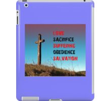 The Road to Salvation through Jesus Christ and the Cross iPad Case/Skin