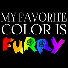 My Favorite Color Is... (Furry) in Rainbow by Zhivago