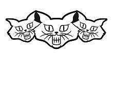 Grinning evil Monster cats Photographic Print