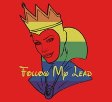 Rainbow Evil Queen Face Red Shirt by instinCKt