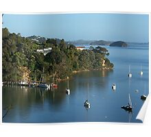 The small historic port of Opua...........! Poster