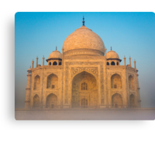 Glowing Taj Mahal Canvas Print