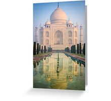 Taj Mahal Dawn Reflection Greeting Card