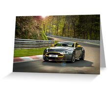 The new Aston Martin N430 testing at the Nurburgring in Germany ... Greeting Card