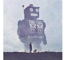 BEWARE THE GIANT ROBOTS! Photographic Print