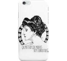 Captain Janeway as Katie O'Clare iPhone Case/Skin
