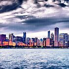 Chicago skyline  by Patrick  Warneka