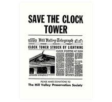 Save the Clocktower Art Print
