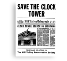 Save the Clocktower Canvas Print