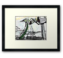 Snow Scene in The Country Framed Print