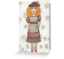 Gloria Doll to Length  Greeting Card