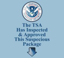 TSA Inspected and Approved - Funny Graphic by andabelart