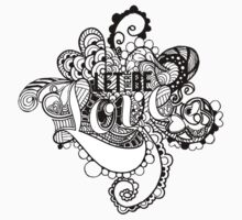 LET THERE BE LOVE Zentangle by Tangldltd