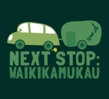 NEXT STOP: Waikikamukau funny fake Kiwi New Zealand travel destination by jazzydevil