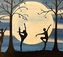 Dance by the light of the moon by RachelOlynukArt