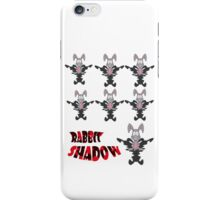 rabbit shadow iPhone Case/Skin