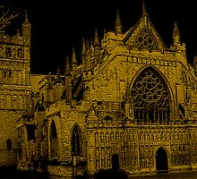 Exeter Church In Southwest England by Vy Solomatenko