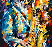 PHAROAH SANDERS by Leonid  Afremov