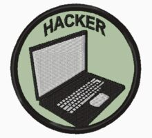 Hacker Geek Merit Badge by storiedthreads