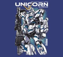 Unicorn Gundam T-Shirt by Snapnfit