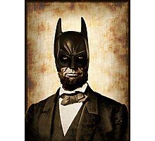 Batman + Abe Lincoln Mash Up Photographic Print