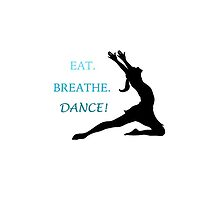 Eat, Breathe, Dance! iPhone Case by AlanaDZ