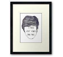 I miss your face like hell (empty face) Framed Print