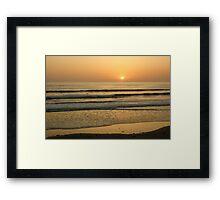 Golden California Sunset - Pacific Beach, San Diego Framed Print