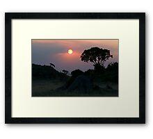 Sunset over Kopjes Framed Print