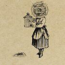 NIÑA Y CANARIO (girl and bird) by Alvaro Sánchez