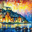 PENSIVE HARBOR by Leonid  Afremov