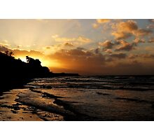 Evening clouds at the Baltic Sea Photographic Print