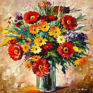 MAGIC FLOWERS by Leonid  Afremov