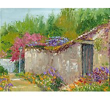 Springtime in France - Montreuil-Bellay Village Photographic Print