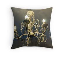 Retro Chandelier Throw Pillow