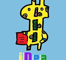 The Super Dollars-Giraffe (with the iDea logo) by AlphaVava