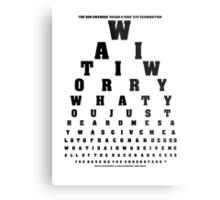 Swanson Eye Examination Metal Print