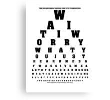 Swanson Eye Examination Canvas Print