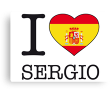 I ♥ SERGIO Canvas Print