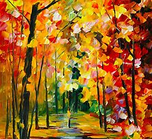 MORNING IN THE WOODS by Leonid  Afremov