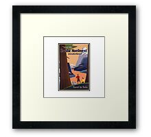 Pacific Northwest Vintage Art Framed Print